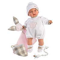 LLORENS: Пупс Малышка 38см, с одеялком и слюнявчиком