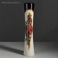 """Ваза напольная """"Кубок"""", роза, разноцветная, керамика, 45 см"""
