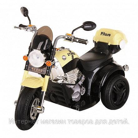 PITUSO Электро-Мотоцикл MD-1188, 6V/4Ah*1, колеса пластик 90х43х54 см, Black-beige /Черно-Бежевый