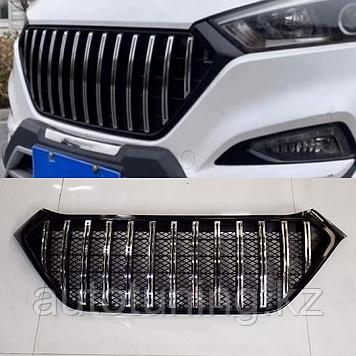 Решетка радиатора GT PanAmericana Vertical на Hyundai Tucson 2015-2018 г.в.