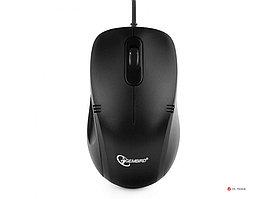 Мышь Gembird MOP-100, USB, черный, 2 кнопки+колесо кнопка, 1000 DPI, кабель 1.45-1.5м