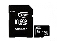 Карта памяти Team Group Micro-SDHC TUSDH8GCL1003 8Gb w/Adapter