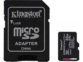 Карта памяти Kingston 32GB microSDHC Canvas Select Plus 100R A1 C10 Card + Adapter, SDCS2/32GB