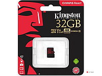 Карта памяти Kingston 32GB microSDHC Canvas React 100R/70W U3 UHS-I V30 A1 No Adapter