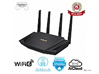 Двухдиапазонный маршрутизатор ASUS RT-AX58U/Wi-Fi 6 (802.11ax)/MU-MIMO/OFDMA/AiProtection Pro/AiMesh