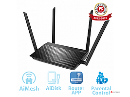 Двухдиапазонный беспроводной маршрутизатор ASUS RT-AC58U стандарта Wi-Fi 802.11ac (AC1300), 90IG0540-BO9460