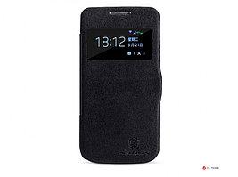 Чехол Nillkin V-series Leather case для Samsung Galaxy S4 mini i9190, черный, кожаный, brand, BOX, NLK-3974