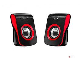 Колонки Genius SP-Q180 Red, 6W (3W x 2), USB питание, 20Hz-20KHz, 1,2 м, 3.5мм 31730026401