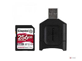 Карта памяти Kingston Canvas React Plus SD MLPR2/256GB  4K/8K + SD Reader, запись до 260МБ/с, чтение до