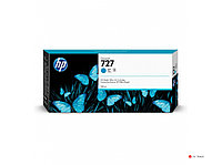 Картридж струйный HP F9J76A, 727, 300 мл, голубой