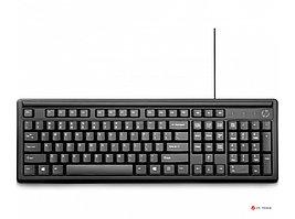 Проводная USB-клавиатура HP 100 черная 2UN30AA,  107 клавиш