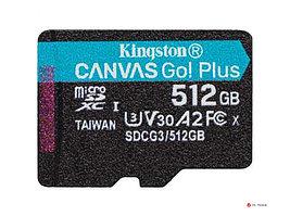 Карта памяти Kingston 512GB microSDXC Canvas Go Plus 170R A2 U3 V30 Card,без адаптера, SDCG3/512GBSP