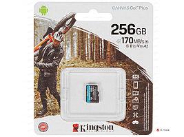 Карта памяти Kingston 256GB microSDXC Canvas Go Plus 170R A2 U3 V30 Card, без адаптера, SDCG3/256GBSP