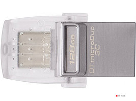 USB Flash Kingston 128Gb DTDUO3C/128GB, microDuo 3C, USB 3.0/3.1 + Type-C flash drive
