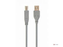 Кабель USB 2.0 Pro Cablexpert CCP-USB2-AMBM-6G, AM/BM, 1.8м, экран, серый