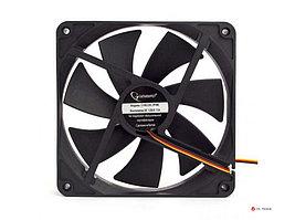 Вентилятор Gembird, 140x140x25, гидрод., тихий, 3 pin/4pin Molex, провод 40 см