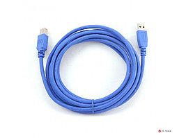 Кабель USB 3.0 Pro Gembird CCP-USB3-AMBM-6, AM/BM, 1.8м, экран, синий, пакет