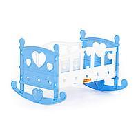 Кроватка-качалка сборная для кукол №2 (7 элементов) (в пакете) (62062)
