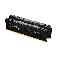 Комплект модулей памяти Kingston FURY Beast RGB KF432C16BBAK2/16 DDR4 16GB (Kit 2x8GB) 3200MHz
