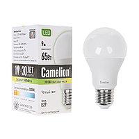 Эл. лампа светодиодная Camelion LED9-A60/830/E27, Тёплый