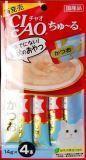 INABA  4 шт. по 14г пюре японский тунец-бонито Соус-лакомство для кошек