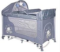 Кровать-манеж Lorelli MOONLIGHT 2 plus rocker с функцией качания SILVER BLUE CAR