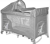 Кровать-манеж Lorelli MOONLIGHT 2 plus rocker с функцией качания grey fun 2140