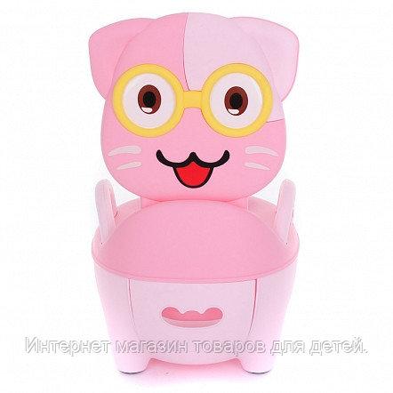 PITUSO Детский горшок КОТИК В ОЧКАХ Розовый PINK 32*27*39 см