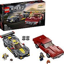 76903 Lego Speed Champions Chevrolet Corvette C8.R Race Car и Chevrolet Corvette 1968 года