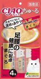 INABA  4 шт. по 14г пюре для укрепления костей, суставов, желтоперый тунец Соус-лакомство для кошек