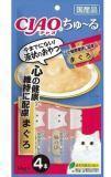 INABA  4 шт. по 14г пюре для здорового сердца, желтоперый тунец  Соус-лакомство для кошек