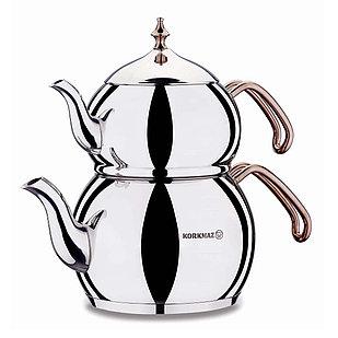 Набор турецких чайников Korkmaz Hanedan 2л + 1.1л