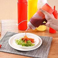 Бутылка для соуса пластиковая, прозрачная 350 мл