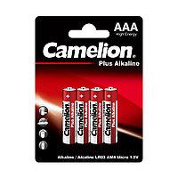 Батарейка, CAMELION, LR03-BP4, Plus Alkaline, AAA, 1.5V, 1150 mAh, 4 шт в блистере