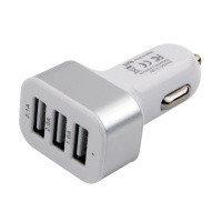 Зарядное устройство автомобильное Cablexpert MP3A-UC-CAR17 12V->5V 3-USB 2.1/2/1A