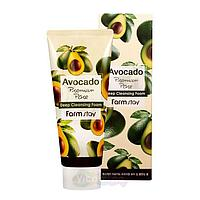Пенка очищающая для всех типов кожи FarmStay Avocado 180 мл KOREA