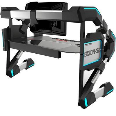 Стол для ПК игровой E-BLUE EGT546BKAA-IA, черный