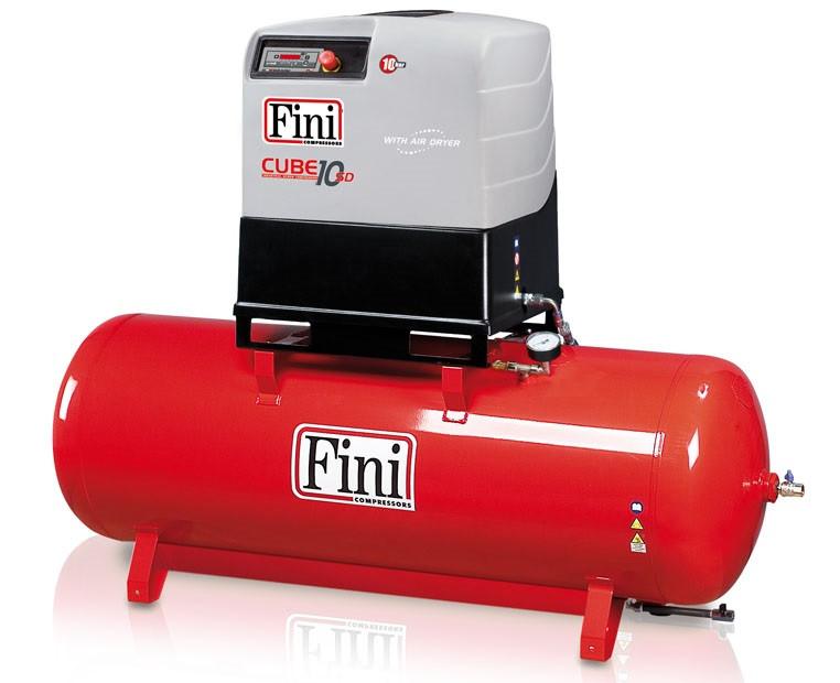 Винтовой компрессор FINI CUBE SD 1010-500F ES (на ресивере с осушителем)