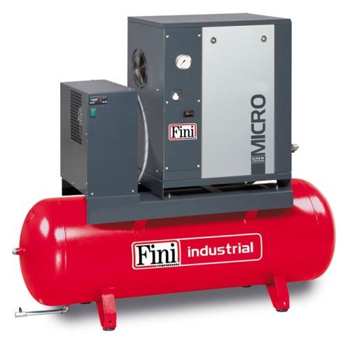 Винтовой компрессор FINI MICRO SE 3.0-10-200 ES (на ресивере с осушителем)