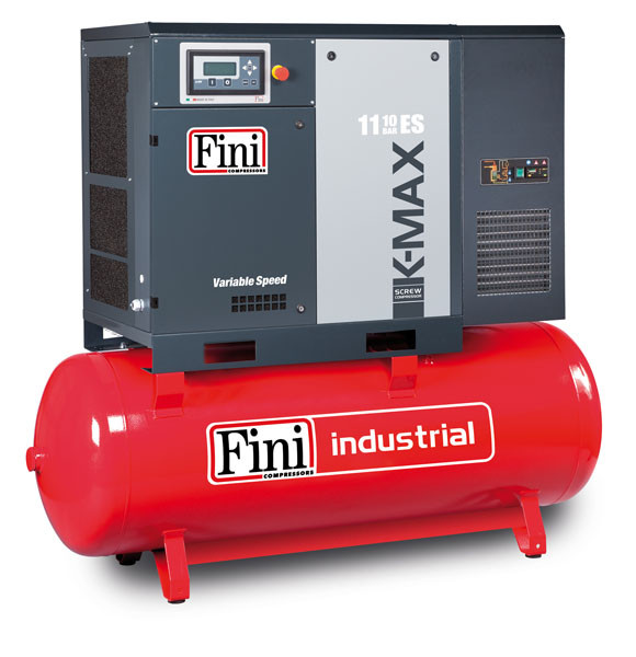 Винтовой компрессор FINI K-MAX 1108-500F ES VS (на ресивере с осушителем и частотником)
