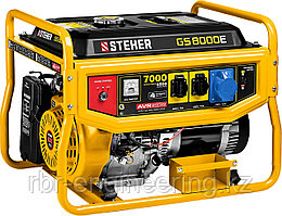 Бензиновый генератор с электростартером, STEHER (Штехер) GS-8000Е , 7000 Вт