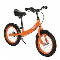 """PITUSO Беговел Pulsar, колеса AIR 14"""", тормоз, подножка,Orange matt/Оранжевый матовый"""