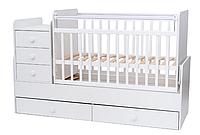 Кроватка-трансформер детская Tomix Lora белый