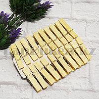 Набор декоративных прищепок деревянных 4 см 20 шт однотонные