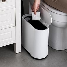 Уценка (товар с небольшим дефектом) Мусорный бак для кухни и ванной комнаты, фото 3