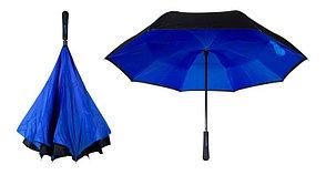 Умный зонт Наоборот, цвет синий + черный День Матери!, фото 3