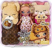 Игровой набор с куклой Na! Na! Na! Surprise серии Teens Пижамная тедди-вечеринка Лары Вонн
