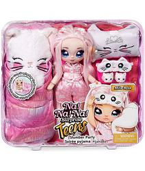 Игровой набор с куклой Na! Na! Na! Surprise серии Teens «- Пижамная китти-вечеринка Милы Роуз