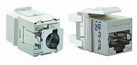 Eurolan Розеточный модуль FTP 1xRJ45 Keystone категории 5е, серебристый