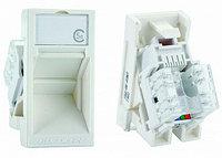 Eurolan модуль UTP категории 5е, в сборе с адаптером, улговой, белый